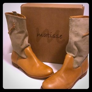 Matisse leather and textile boots Coachella size 8